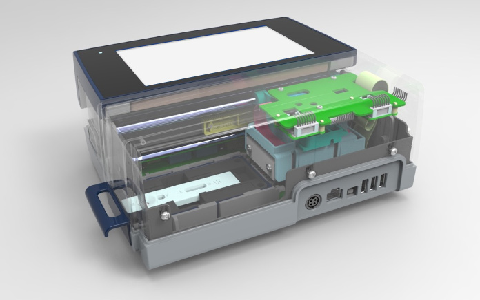 Semi-transparent view into the ESEQuant LR3